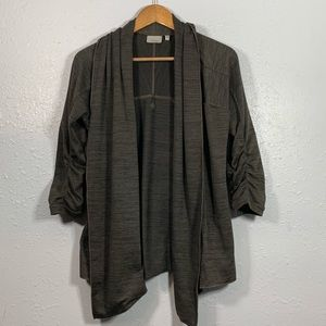 Athleta Sweaters - Athleta Green Haven Wrap Drape Cardigan Size XS
